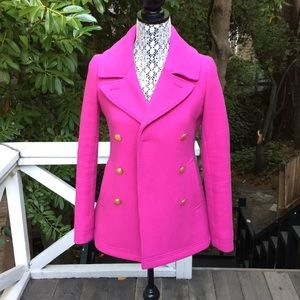 Jcrew Wool Coat Pink Sz 00